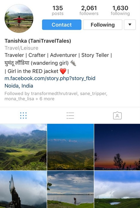 Tani Travel Tales on Instagram