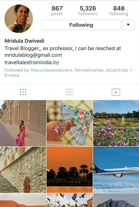 Mridula on Instagram