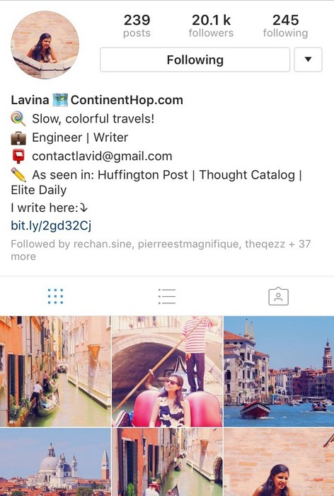 Continent Hop on Instagram