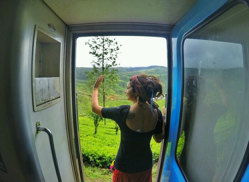 Me enjoying a scenic train journey - Sri Lanka Travel Tips