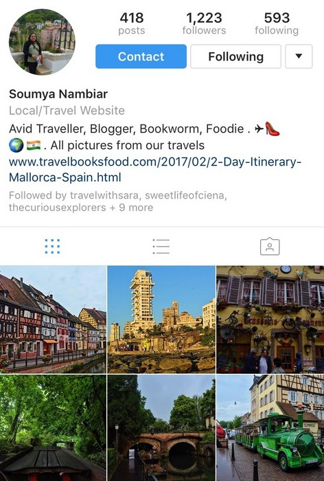 Travel books food on Instagram