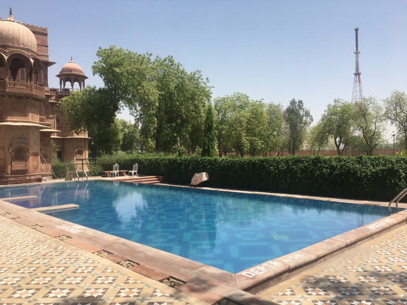 Swimming Pool at Laxmi Niwas Palace