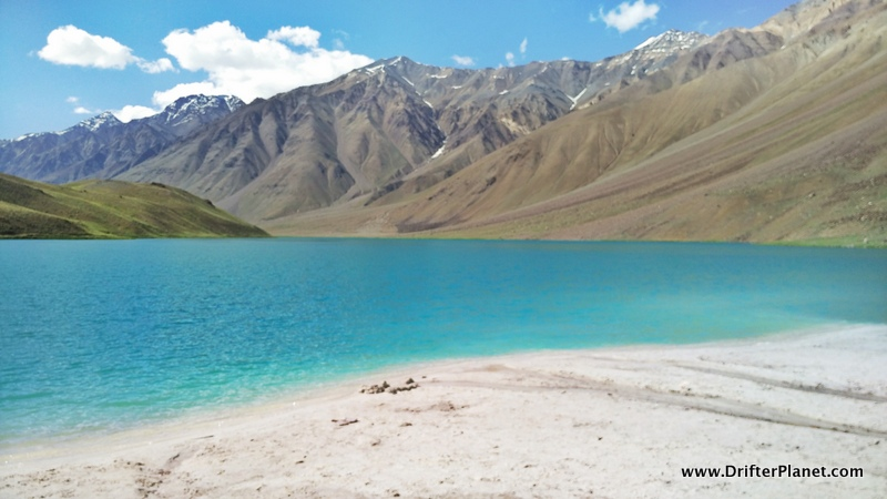 Chandra Taal Lake - no picture could capture the real blueness of the water