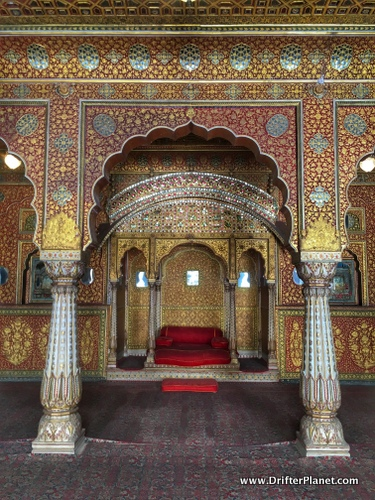 Royal Golden Room in Junagarh Fort, Bikaner, Rajasthan, India