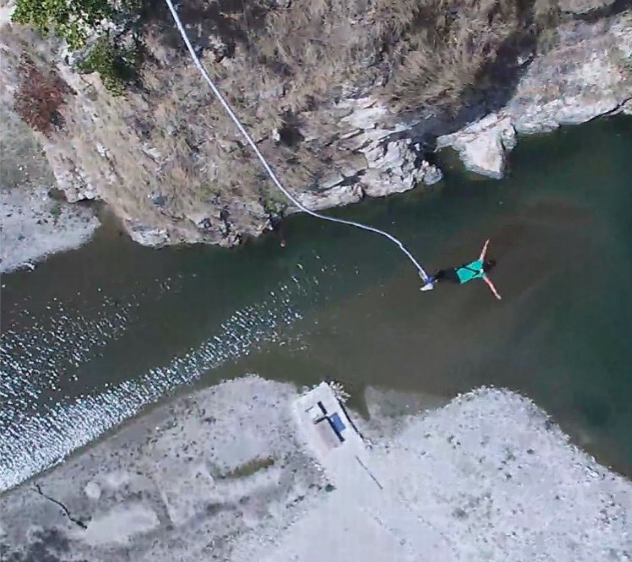 My first bungee jump in Rishikesh, India