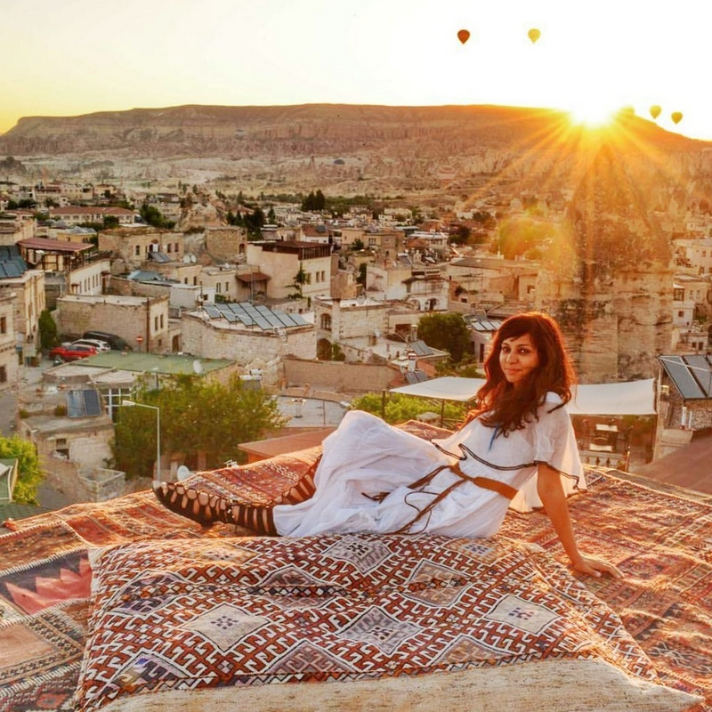 Sunrise view from Sultan Cave Suites, Göreme, Cappadocia