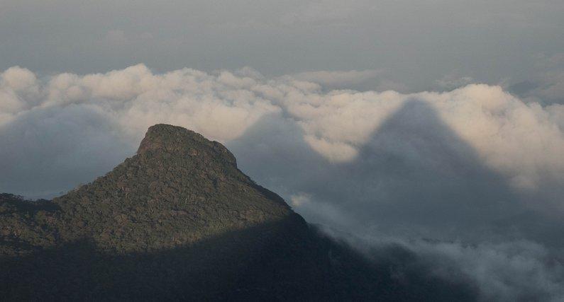 Adam's Peak and Triangular Shadow - near Hatton, Sri Lanka Route Map