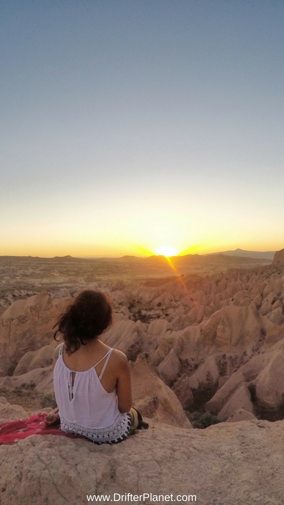 Sunrise at Kale Konak Cave Hotel in Uchisar, Cappadocia, Turkey