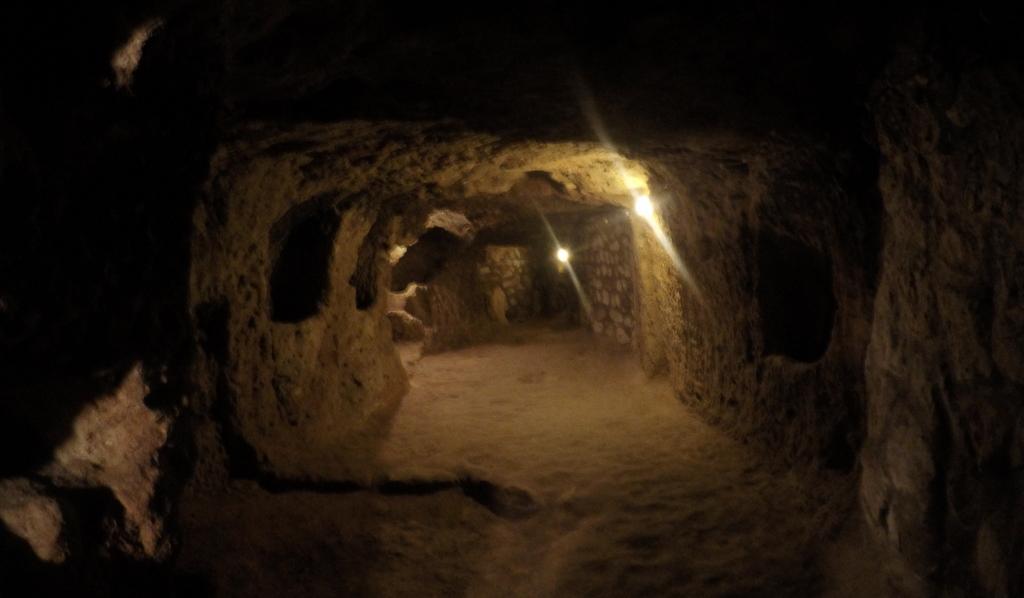 Inside Derinkuyu underground city, Cappadocia
