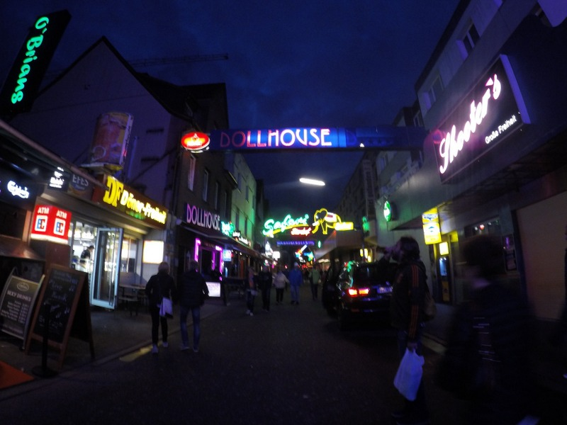 Dollhouse and other clubs in Reeperbahn - Hamburg's Red Light area