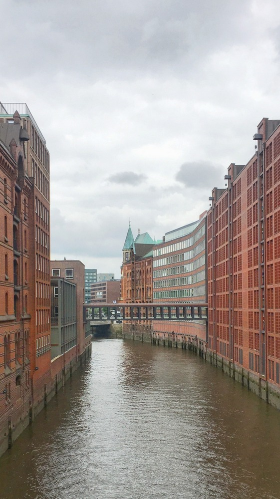 Canals and Bridges - Speicherstadt - Warehouse district in Hamburg, Germany