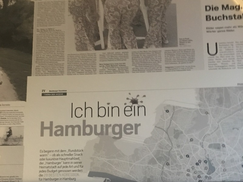 """Ich bin ein Hamburger"" - it means I am a Hamburger - Hamburg, Germany"
