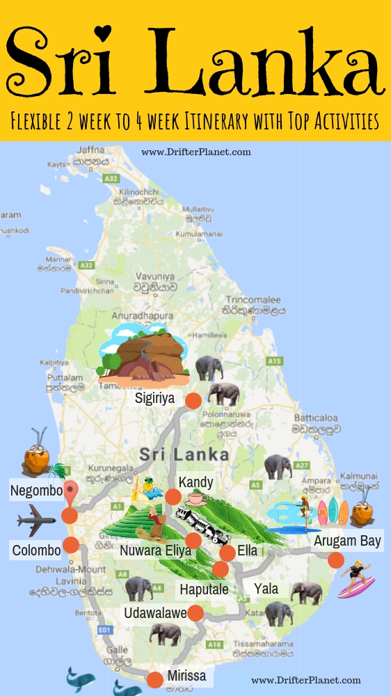 sri lanka itinerary two weeks in sri lanka or even a month