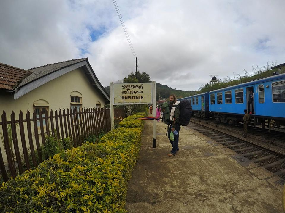 San and I jumped off the train at Haputale - Sri Lanka Itinerary