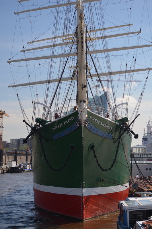 Rickmer Rickmers on Hamburg Harbor - Museum Ship