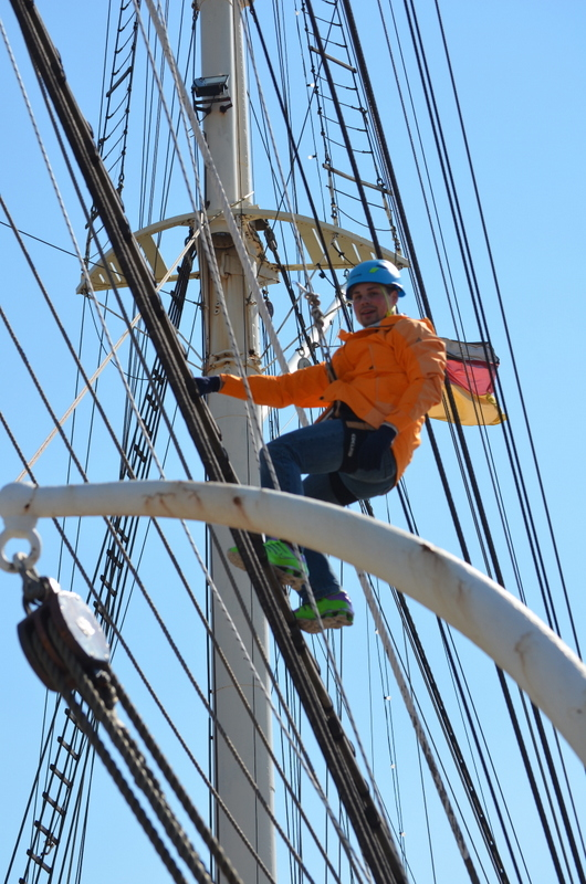 Climb on top of Rickmer Rickmers Ship on Hamburg Harbor - things to do in Hamburg, Germany
