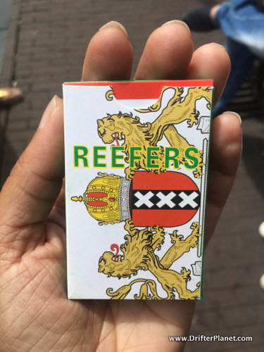 A pack of Reefers from one of the coffeeshops in Amsterdam