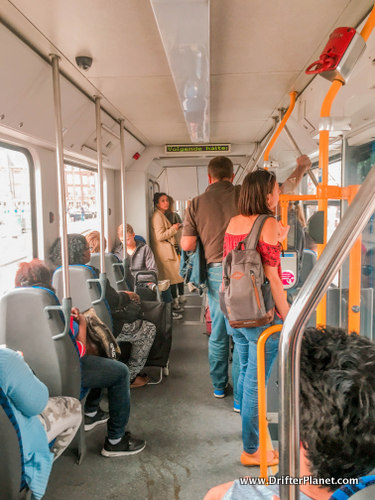 Inside a Train in Amsterdam - tips for traveling to Amsterdam