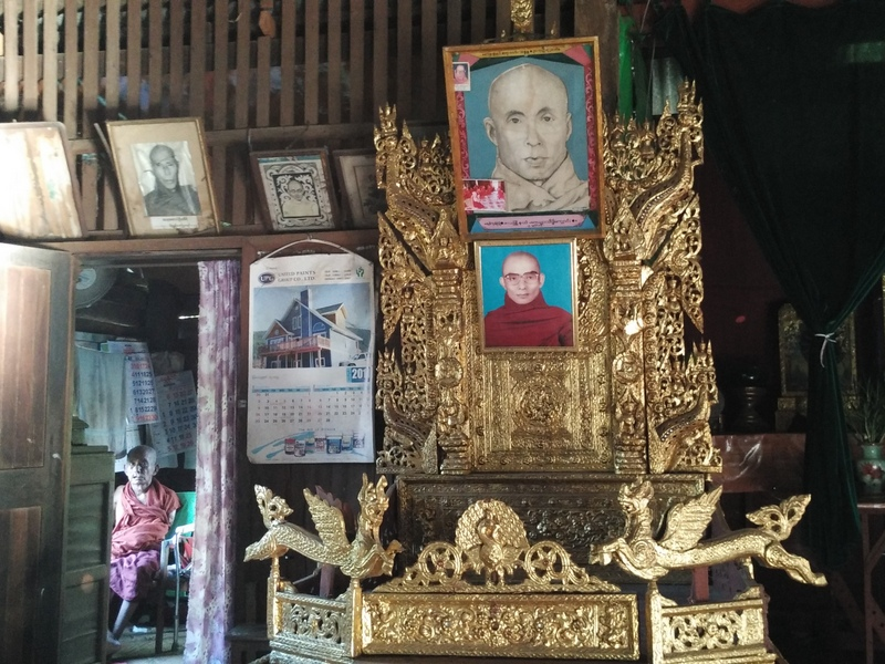 Inside a monastery in Dala Village, Myanmar