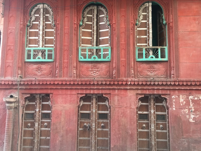 An old Red Sandstone Haveli in Bikaner, Rajasthan