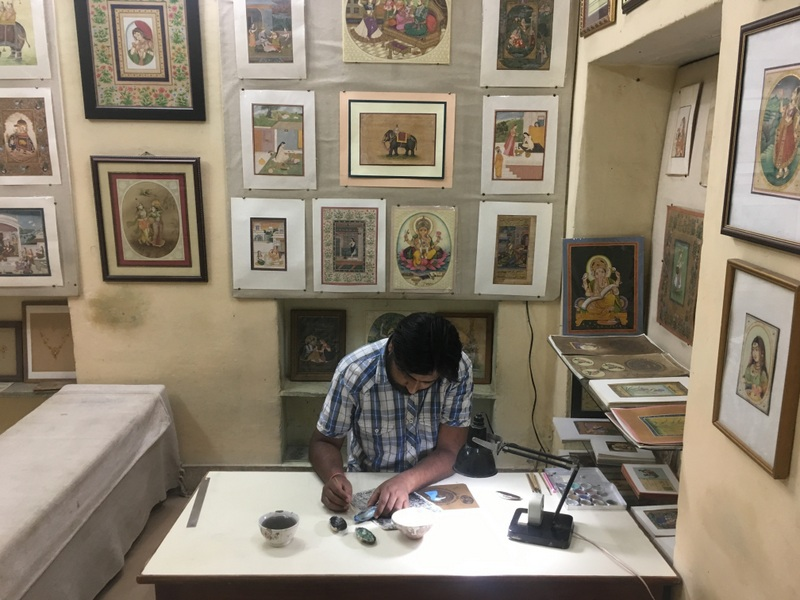 the Miniature Art Studio by the Swami family in Bikaner
