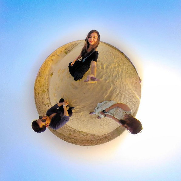 Chilling on the Sand Dunes in Bikaner, Rajasthan - little planet perspective