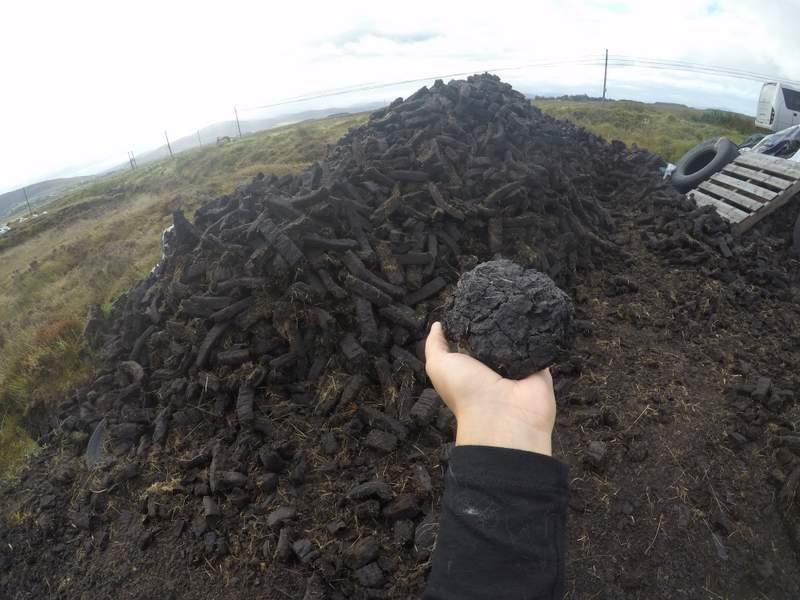 Achill island is 87% peat bog