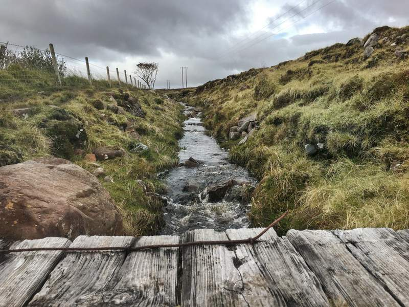 Somewhere on the Great Western Greenway trail near Achill Island, Ireland