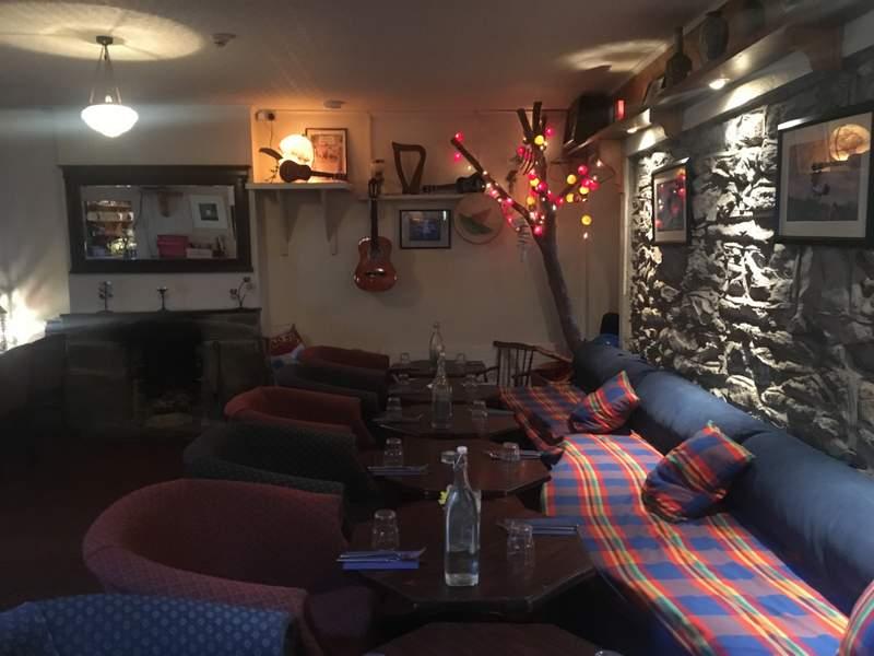 The restaurant inside Pure Magic, Achill Island, Ireland