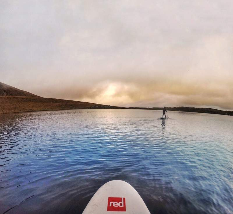 Stand up Paddleboarding on Corrymore Lake - Achill Island, Ireland