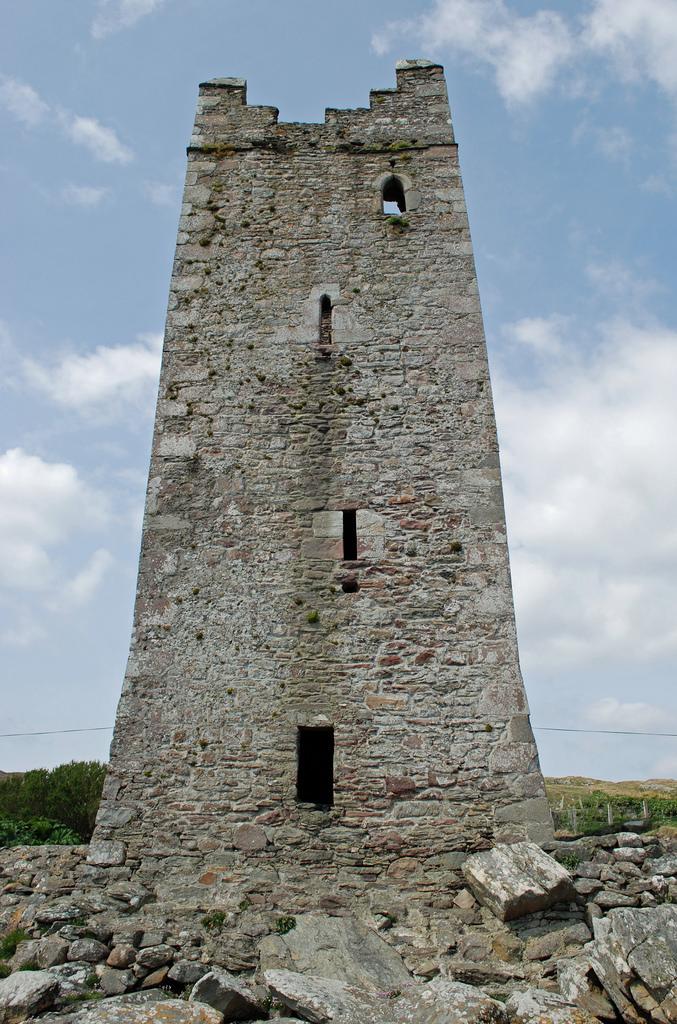 Kildavnet Castle of Grace O'Malley – the Pirate Queen - Achill Island, Ireland
