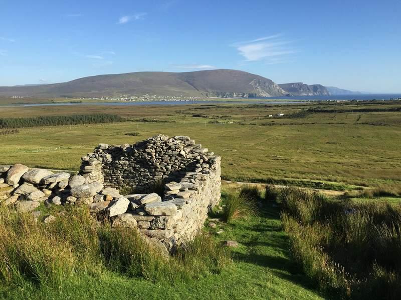 Slievemore Deserted Village on Achill Island, Ireland