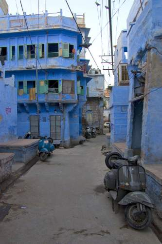 Blue streets of Jodhpur, Rajasthan, India