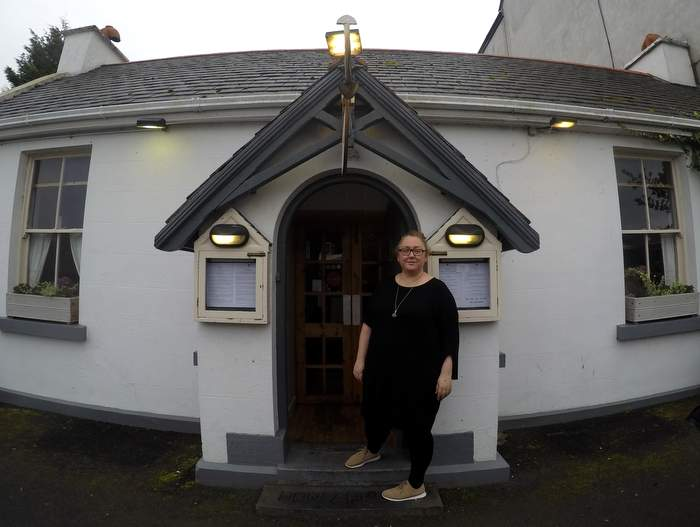 Chef Áine Maguire at the Ideal Wall Restaurant in Westport