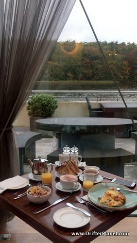 Breakfast with an amazing view at Ice House Hotel, Ballina - County Mayo, Ireland