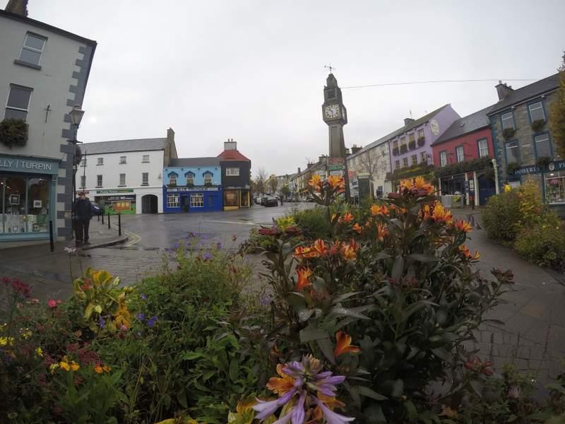 Clock tower in the town of Westport, Ireland