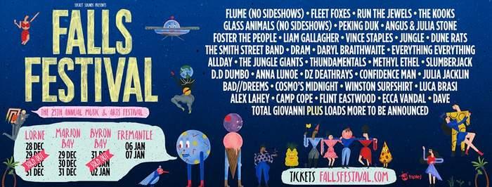 Falls Festival, Australia - flyer