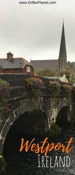 Flowers on the bridge in Westport, Ireland - County Mayo