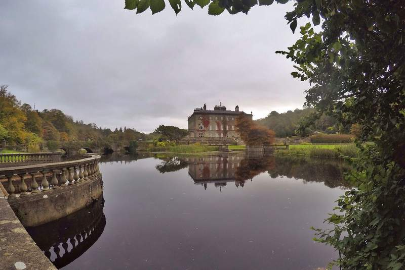 Westport House in Autumn, County Mayo, Ireland