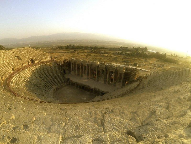 Ancient Amphitheatre in Pamukkale, Turkey