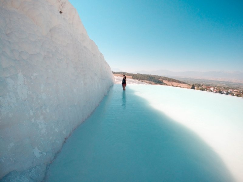 Pamukkale in Turkey - Spectacular Travertine Thermal Pools ...