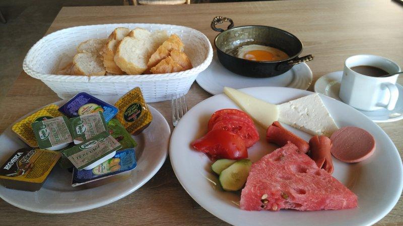 My breakfast at Ozbay Hotel, Pamukkale, Turkey