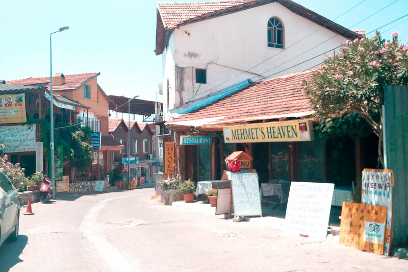 The village of Pamukkale, Turkey and the local market