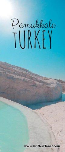 Pamukkale Thermal Pools, Turkey - White Travertine and Blue Water