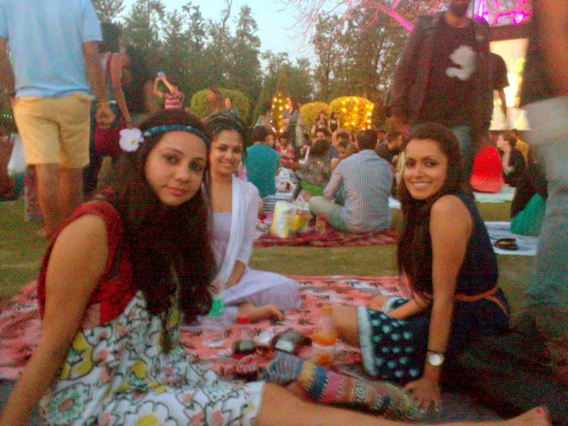 My friends and I enjoying Jazz Festival in Nehru Park, Chanakyapuri - Places to visit in Delhi