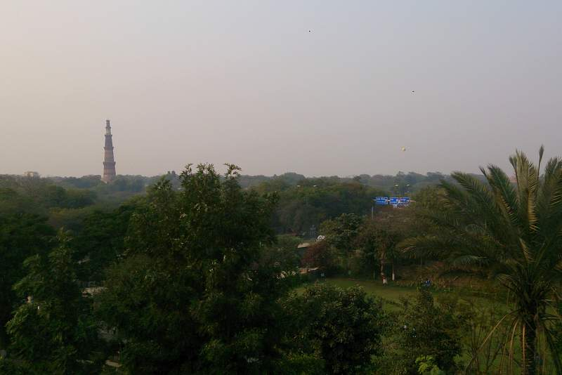 The view of Qutub Minar from Ahimsa Sthal - Places to visit in Delhi