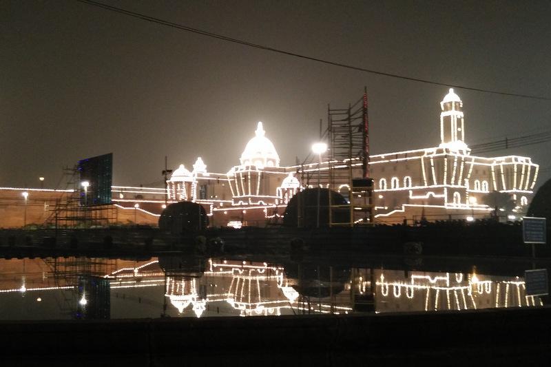 Rashtrapati Bhawan lit up during Republic Day