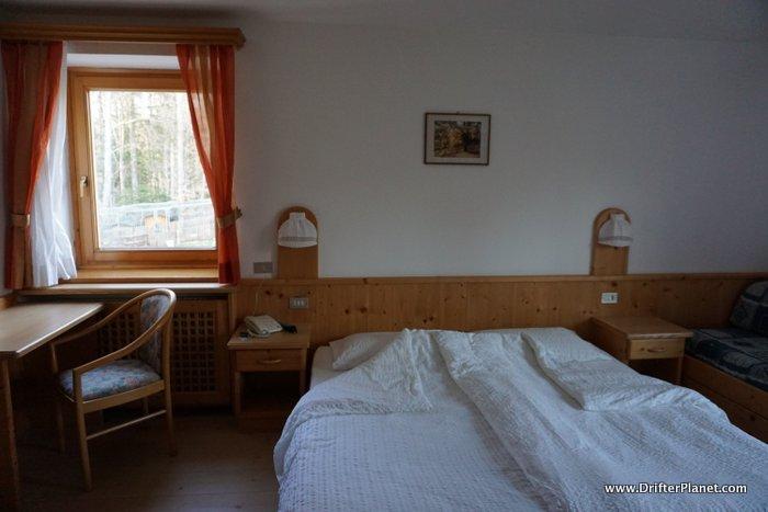 Our cozy room in Nido Verde near Lavarone lake in Alpe Cimbra, Trentino, Italy