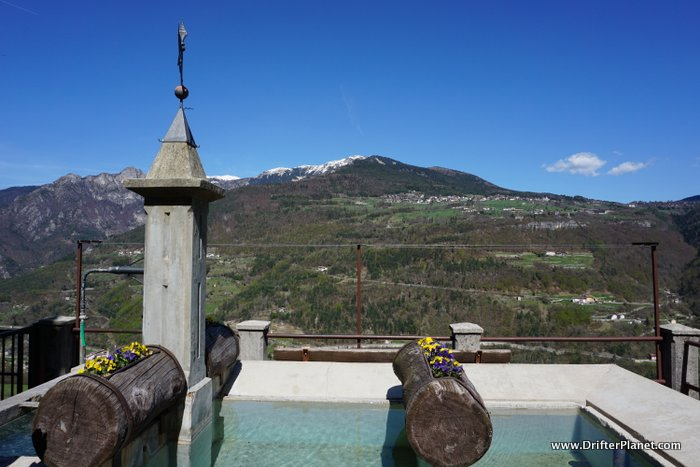 The view from the lovely Guardia village in Alpe Cimbra, Trentino, Italy