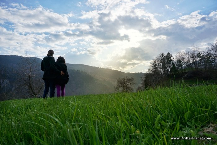 San and I OD-ing on nature in Piccoli-Lavarone, Italy